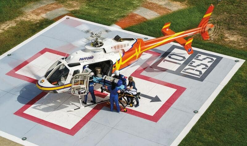Bell 407 Public Safety Utility Helicopter Elevating