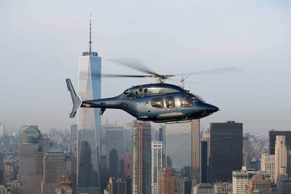 Bell 429 in flight over New York City