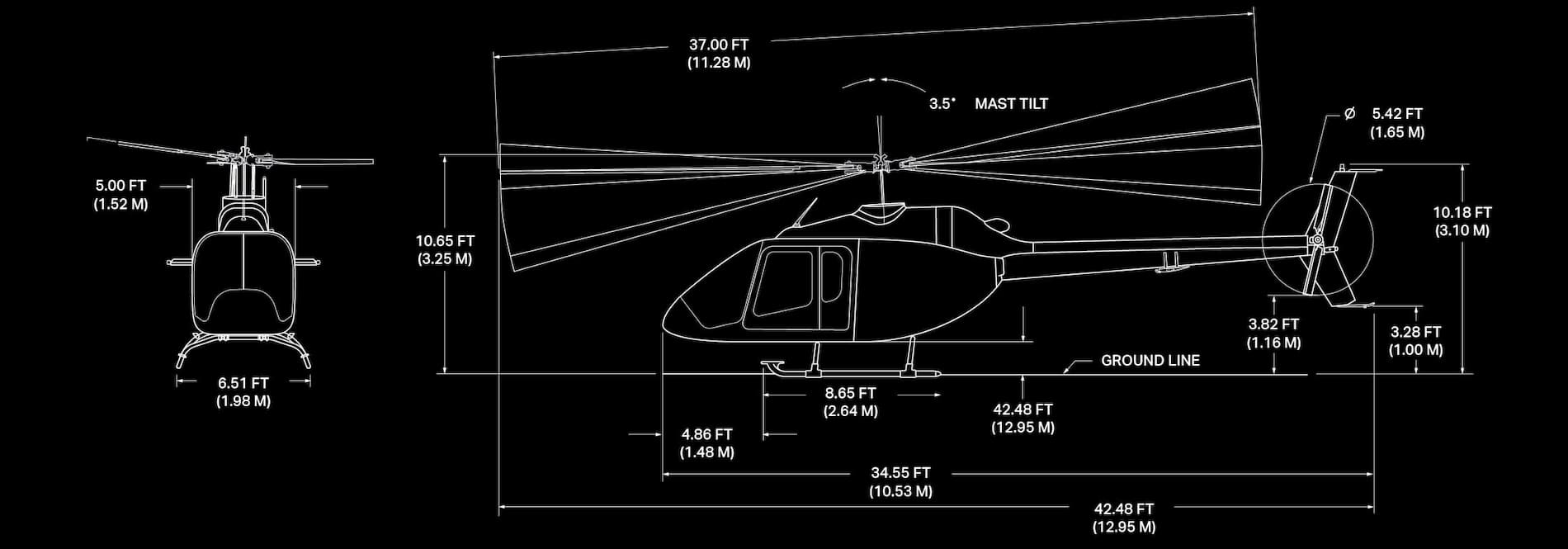 Bell 505 Specification Image