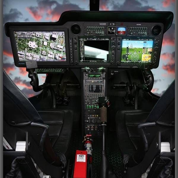 Large Integrated Tactical Display, Audio System, and Standard G1000H Avionics