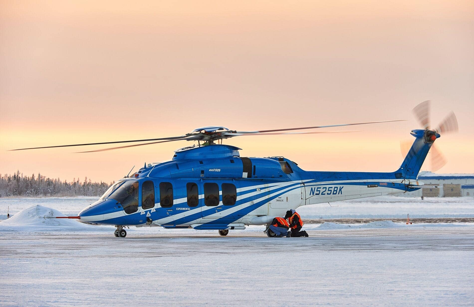 Bell 525 at Sunset Landed
