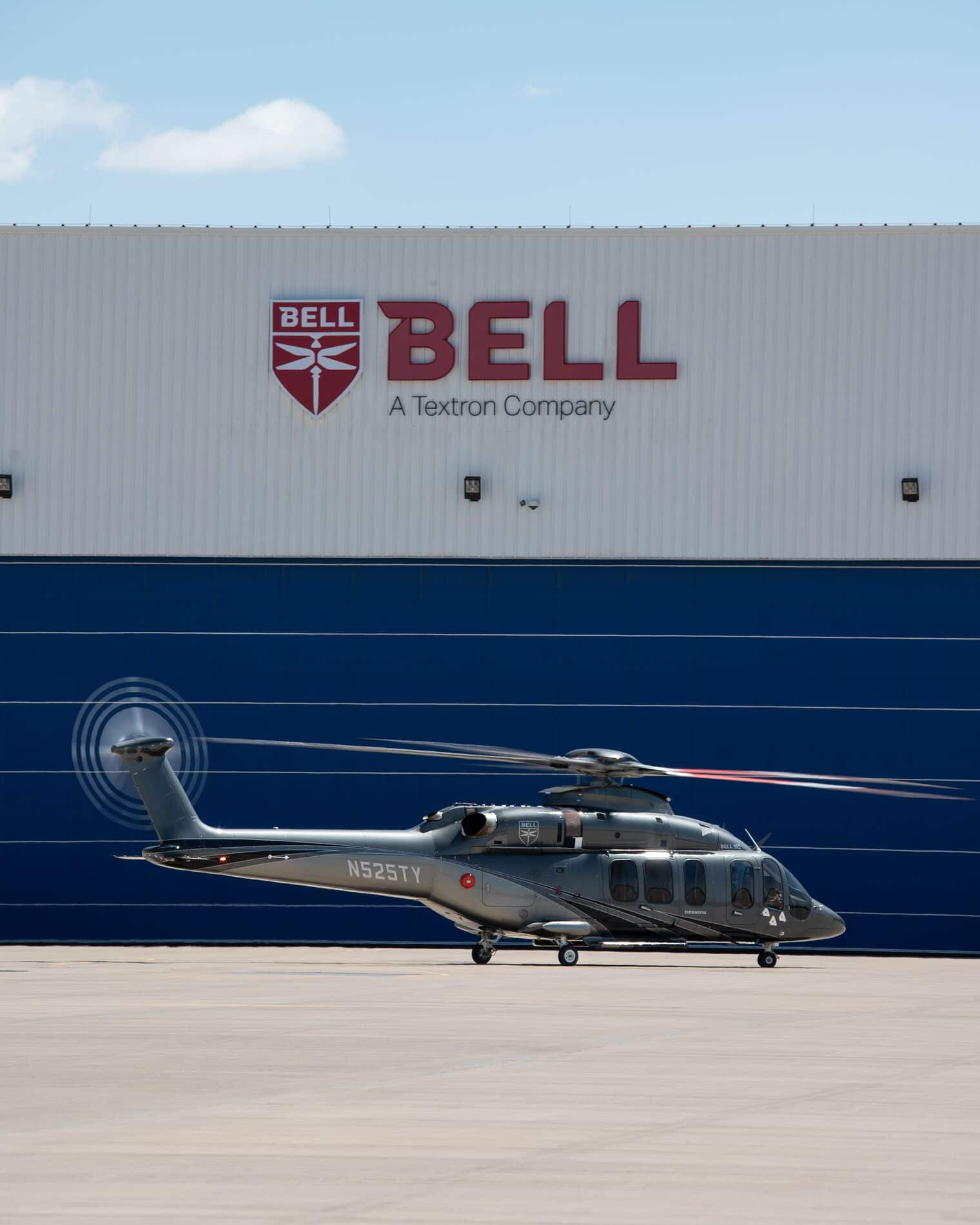 Bell 525 landed at Bell
