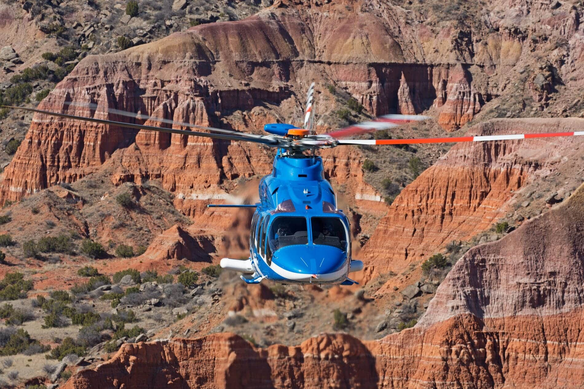 Bell 525 Over Desert Mountains