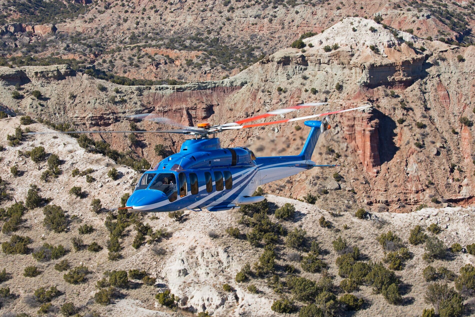 Bell 525 Over Desert Mountains 2 - Hero