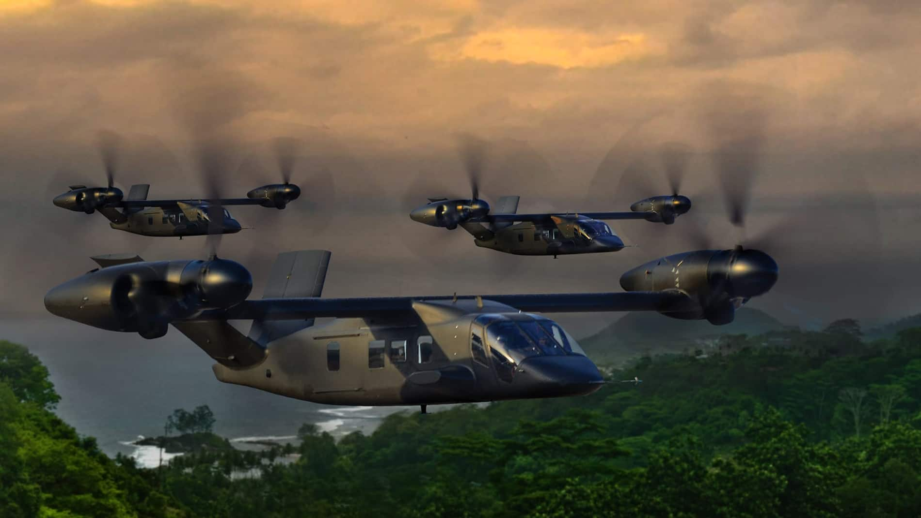 Bell V-280 Valor in flight - Bell's entry to the U.S. Army's Future Long Range Assault Aircraft for the Future Vertical Lift (FVL) competition.